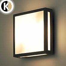 LED Leuchte Wandleuchte ISABEL 2x E27 FASSUNG IP54 Aussenleuchte Außenlampe Wandlampe Gartenleuchte Flurleuchte 230V