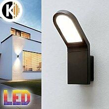 LED Leuchte Wandleuchte MONICA-1 6W - 620lm IP54 Warmweiss Aussenleuchte Außenlampe Standlampe Gartenleuchte Flurleuchte 230V