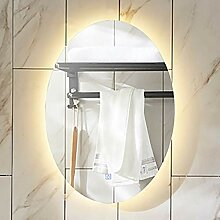 Led-leuchten beleuchtet Badezimmer Spiegel oval