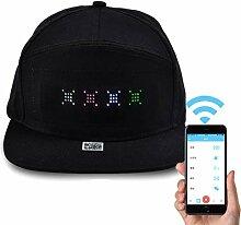 LED Leuchthut,LED Bildschirm Hut Einstellbarer Hut