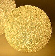 LED Leuchtkugel - 20cm - Weiß Leuchtball Ball Kugel Batteriebetrieben