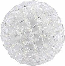LED-Leuchtkugel Stern, Ø 14cm, warmweiß, mit 100