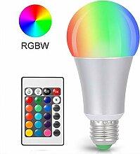 LED-Leuchtmittel, E27, kabellos, dimmbar, RGBW,