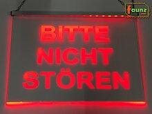 """LED Leuchtschild Hinweisschild """"Bitte nicht"""