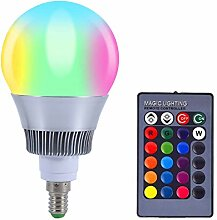 LED Licht Farbwechsel Lampe RGB 10W E14 16 Farbe