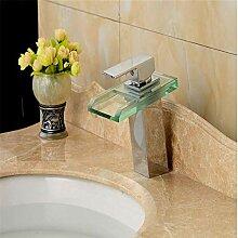Led Licht Glas Wasserfall Waschbecken Wasserhahn