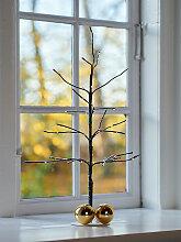 LED-Lichterbaum mit Fuß Kira Tree braun, Designer