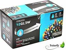 LED Lichterkette 1-2 Glow Girlande Lichtergirlande Weihnachtsdeko Innen Außen (Bunt, 150cm Baum - 126 LED)