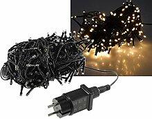 LED Lichterkette 20 Meter mit 200 LEDs I Schwarzes