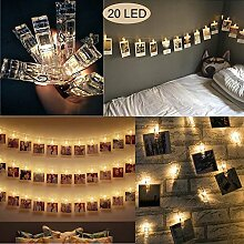 LED Lichterkette,20LED Fotoclips