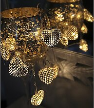 LED Lichterkette 'Net Hearts' Herz