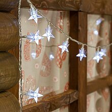 LED-Lichterkette 7,5 m, 60 Mini-Sterne, Leds weiß, mit Lichtspielen, Lichterkette für Weihnachten, Weihnachtsbaumbeleuchtung