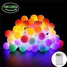 LED Lichterkette Außen, 10M 100 LED Lichterkette