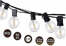 LED Lichterkette Außen 18.3FT G40 Glühbirne