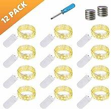 LED Lichterkette Batterie, 12x20 Micro LEDs Mini