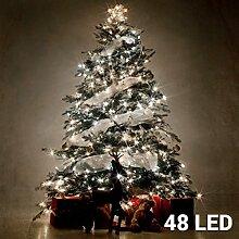 Led Lichterkette Batterie 48 Lämpchen (aussen +