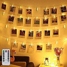 LED Lichterkette Batterie Innen Warmweiß