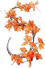 LED-Lichterkette Blätter, orange