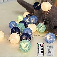 LED Lichterkette Cotton Balls, Vegena LED