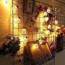 LED Lichterkette, ELINKUME® 10er Ananas String Lights - Batteriebetrieben Dekorative Beleuchtung für Party Garten Weihnachten Hotel Fest Geburtstag Hockzeit Warmweiß
