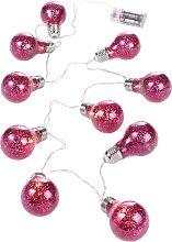 LED-Lichterkette Finja, rosa
