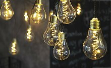 LED Lichterkette Glühbirne aus Glas Retro Design