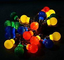 LED Lichterkette Glühbirne Birnen Kette Ball Kugel Leuchte Deko Weihnachten Party Hochzei