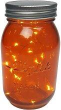 LED-Lichterkette im Einmachglas Orange