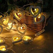 LED Lichterkette, LED Weihnachtsbeleuchtung, Herz