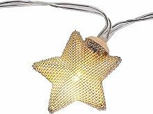 LED Lichterkette Metallic Stern, 2 Farben, Farbe:silber