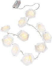 LED-Lichterkette Rose, weiß
