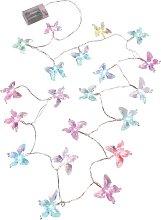 LED-Lichterkette Schmetterling, farblos
