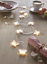 """LED Lichterkette """"Schmetterling"""" warmweiß 130"""