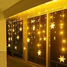LED Lichterkette, Schneeflocke Fenster,