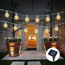 LED Lichterkette,SUAVER Solar Lichterkette Außen