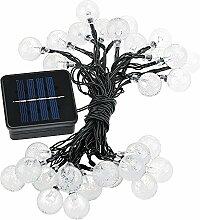 LED-Lichterkette - TOOGOO(R)LED Weihnachtsbeleuchtung LED Lichterkette Sonnenenergie von Solar-Leuchten dekorative Dekoration fuer die Dekoration von den Gartenzaun Landschaft fuer Party - 20FT 30LED Blau