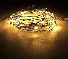 LED-Lichterkette, warmweiß, mehrfarbiger