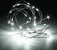 LED-Lichterkette, weiß, mehrfarbiger Kupferdraht