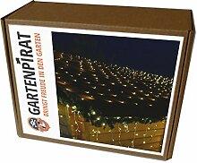 LED Lichternetz 2x2m 160 LED Lichterkette Netz 2 x