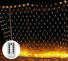 LED Lichternetz 3 x 2 m mit Fernbedienung 8 Modis