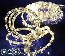 LED Lichterschlauch 12 m mit 288 warm-weißen LEDs