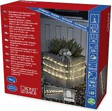 LED Lichterschlauch 6m für Außen mit Lichtsensor