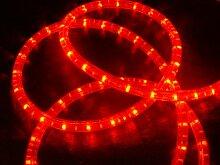 LED Lichterschlauch Lichtschlauch Beleuchtung mit Blinkfunktion 26m rot 26 meter + Zuleitung
