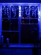 LED Lichtervorhang Blau mit 120 LED´s - Wahnsinn