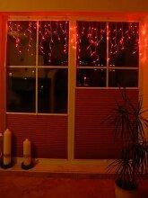 LED Lichtervorhang Rot mit 120 LED koppelbar