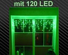 LED Lichtervorhang Vorhang Grün mit 120 LED´s - Wahnsinn