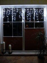 LED Lichtervorhang Weiss mit 120 LED koppelbar verlängerbar