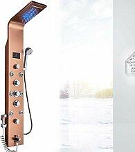 LED Luxus Duschpaneel elegant aus rostfreiem