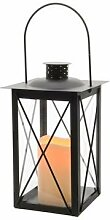 LED Metall-Laterne Outdoor Bo mit flackernden Kerzen Outdoor oder Innen