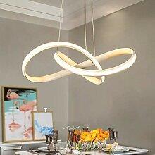 LED Minimalismus Kronleuchter Modern Weiß Eisen